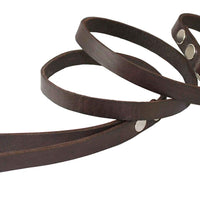 "4' Genuine Leather Classic Dog Leash Brown 5/8"" Wide for Medium and Large Dogs"