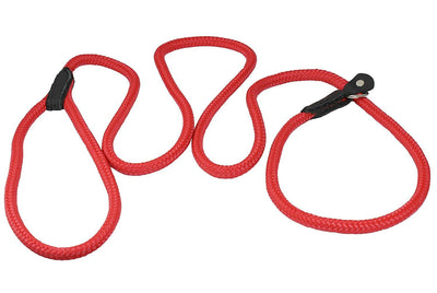 Dogs My Love Nylon Rope Slip Dog Lead Collar and Leash British Style 4ft Long Red
