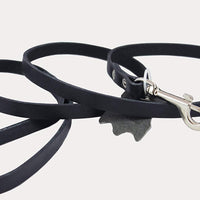 Genuine Leather Classic Dog Leash Black 1/2 Wide 4 Ft, Boston Terrier, Poodle, Puppies