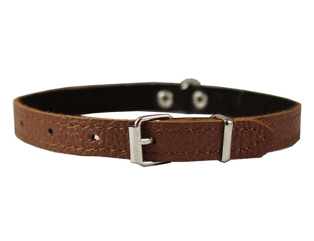 "Dogs My Love Genuine Leather Felt Padded Dog Collar X-Small 11"" x1/2"" Wide Fits 8""-10"" Neck"