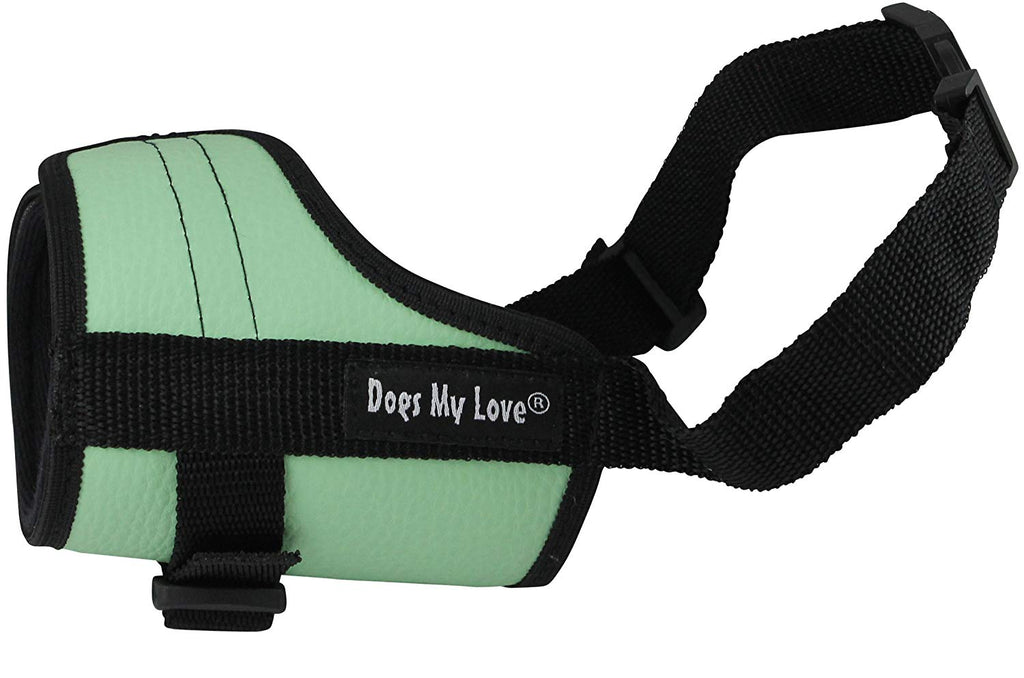 Adjustable Dog Muzzle 6 Sizes Green