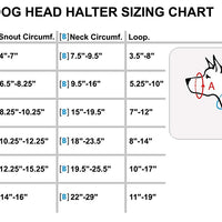 Dog Head Collar Halter Red 6 Sizes