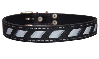 High Quality Genuine Leather Reflective Dog Collar 24