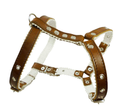 Genuine Leather Dog Harness Padded, Fits 17