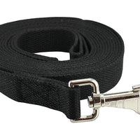 "Dog Leash 1"" Wide Cotton Web 15 Ft Long for Training Swivel Locking Snap, Pitt Bull, Cane Corso"