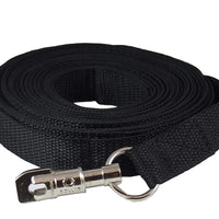 "Dog Leash 1"" Wide Nylon 30 Feet Long for Training Swivel Locking Snap"