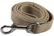 Dog Leash 4.5ft Long Cotton Web for Training, Beige 4 Sizes