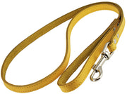 Dogs My Love Genuine Leather Dog Leash 4-Feet Wide Yellow