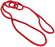 "Dog Show Lead Braided Tubular Nylon 52"" Long Red"