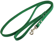 Dogs My Love Genuine Leather Dog Leash 4-Feet Wide Green