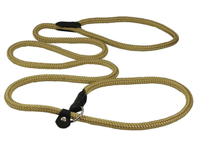 Dogs My Love Nylon Rope Slip Dog Lead Adjustable Collar and Leash 6ft Long Beige