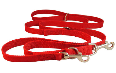 Dogs My Love 6 Way European Multi-functional Cotton Web Dog Leash, Adjustable Lead 50