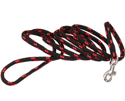Dogs My Love Dog Rope Leash 4ft Long Red/Black