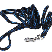 Dogs My Love 6ft Long Braided Rope Dog Leash Blue with Black 6 Sizes
