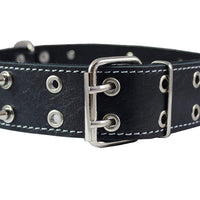 "Dogs My Love Real Leather Spiked Dog Collar Spikes, 1.85"" Wide. Fits 22""-26"" Neck, XLarge Breeds"
