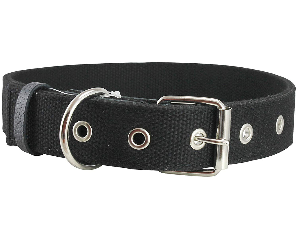 "Cotton Web Dog Collar 1"" Wide. Fits 15""-19"" Neck. Amstaff, Retriever"