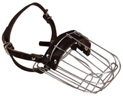 "Metal Wire Basket Dog Muzzle Doberman Pinscher Female, Collie. Circumference 10.75"", Length 4"""