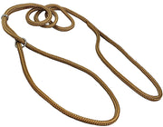 "Dog Show Lead Braided Tubular Nylon 52"" Long Beige"