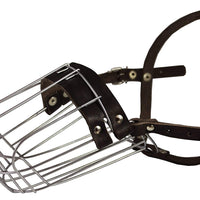 "Metal Wire Basket Dog Muzzle Doberman Pinscher Male. Circumference 12"", Length 4.5"""