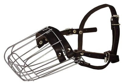 Metal Wire Basket Dog Muzzle Doberman Pinscher Male. Circumference 12