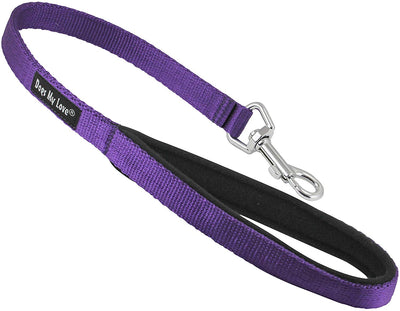Short Dog Leash Padded Handle Wide Nylon Traffic Lead 22