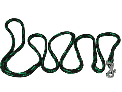 Dogs My Love 6ft Long Braided Rope Dog Leash Green with Black 6 Sizes
