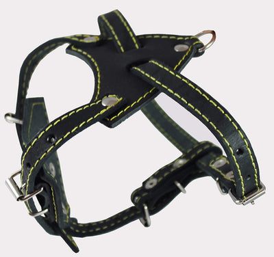 Genuine Leather Dog Harness, 16.5