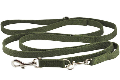 6 Way European Multi-functional Cotton Web Dog Leash, Adjustable Lead 50