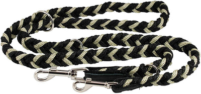 6 Way Euro Multifunctional Braided Dog Leash, Adjustable Schutzhund Lead 42