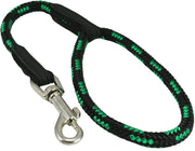 Dogs My Love 18-inch Rope Dog Leash Short Green/Black