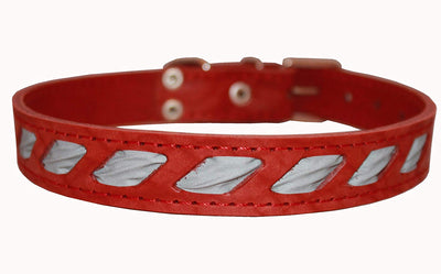 High Quality Genuine Leather Reflective Dog Collar 1