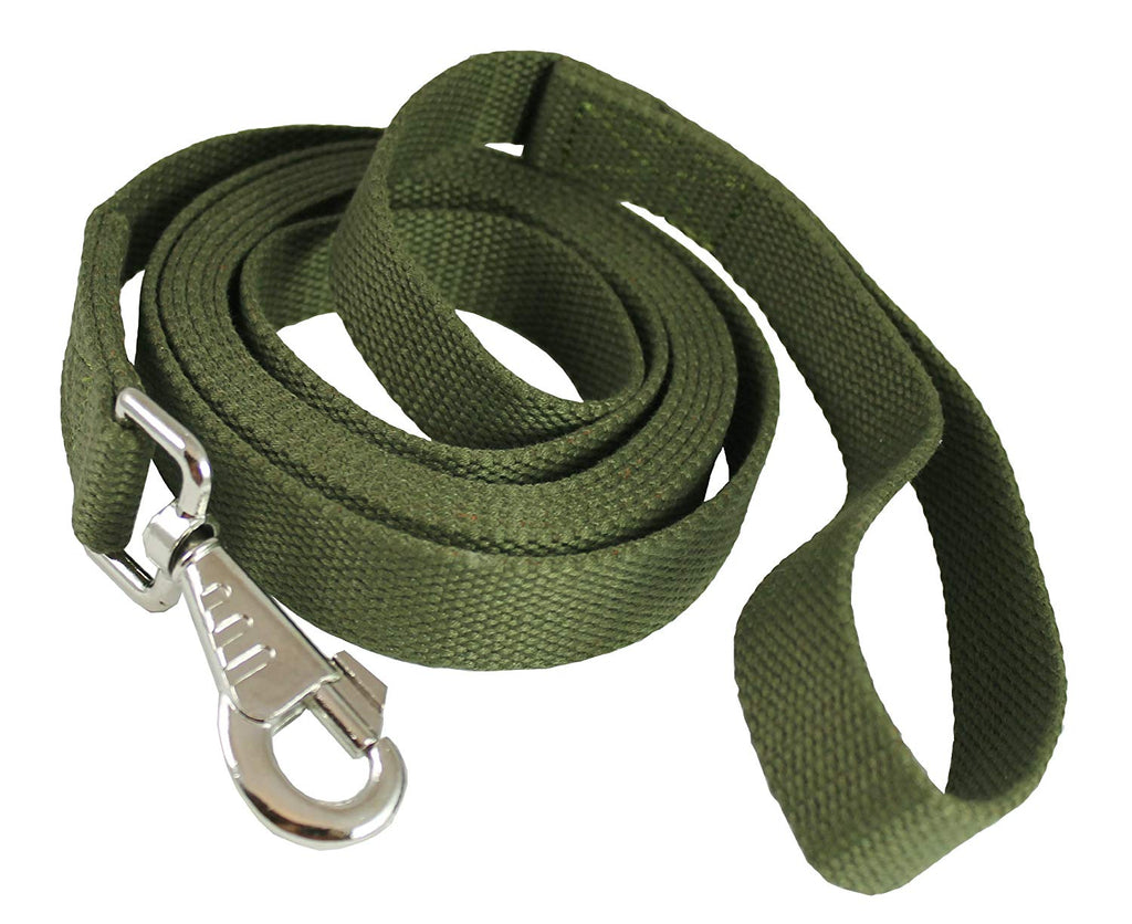 "Dog Leash 1"" Wide Cotton Web 6 Feet Long for Training Swivel Locking Snap, Pitt Bull, Cane Corso"