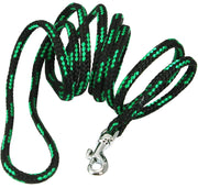 Dogs My Love Dog Rope Leash 4ft Long Green/Black