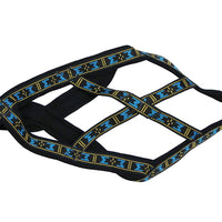 "Weight Pulling Sledding Dog Harness X-back Style Black Medium, 19.5"" Neck Circumference"