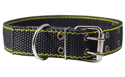 Heavy Duty Nylon and Leather Dog Collar 1.5