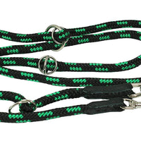 "Adjustable Multifunctional Rope Dog Leash 42""-70"" Green/Black"