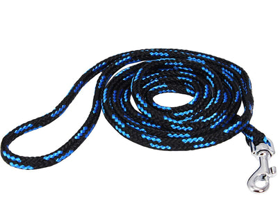 Dogs My Love Dog Rope Leash 4ft Long Blue/Black