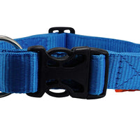 "Heavy Duty Adjustable Nylon Dog Collar 1.25"" Wide. Fits 15""-25"" Neck Large"