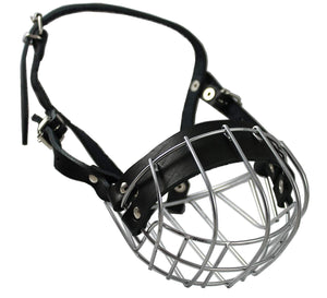 "Metal Wire Basket Dog Muzzle Boxer, Bulldog Male. Circumference 14"", Length 3.5"""
