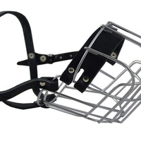 "Metal Wire Basket Dog Muzzle Rottweiler. Circumference 15"", Length 4.75"""