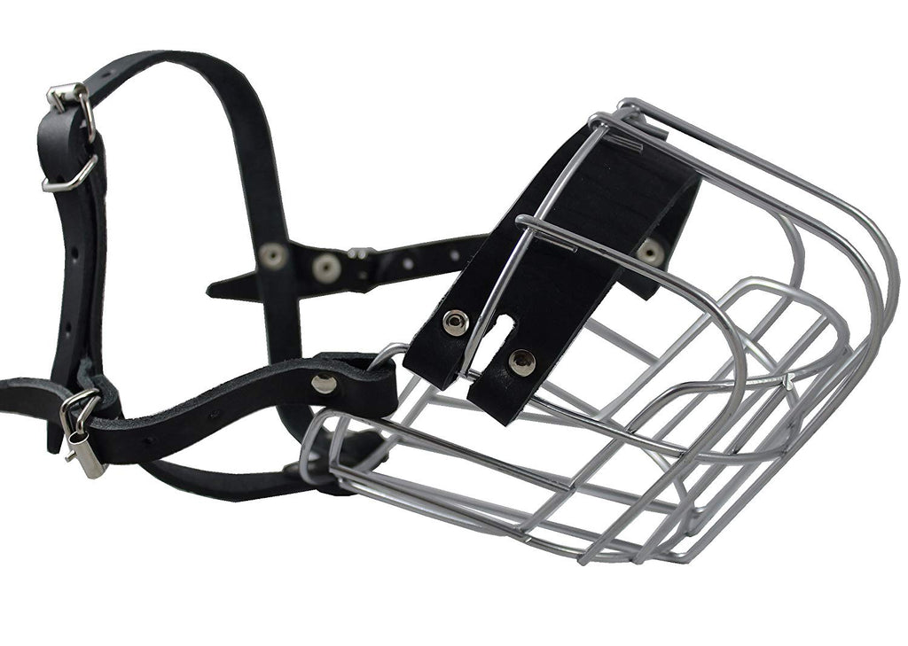 "Dogs My Love Metal Wire Basket Dog Muzzle Rottweiler Female. Circumference 14"", Length 4.25"""