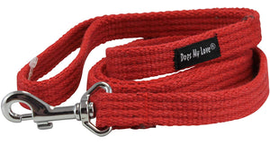 Dog Leash 4.5ft Long Cotton Web for Training, Red 4 Sizes