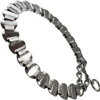 Metal Plates Martingale Dog Collar 3mm Link Chrome