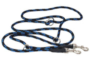 "Adjustable Multifunctional Rope Dog Leash 42""-70"" Blue/Black"