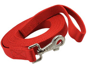 "Dog Leash 1"" Wide Cotton Web 15 Ft Long for Training Swivel Locking Snap, Rottweiler, Boxer"