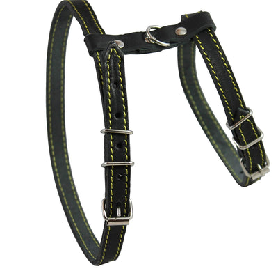 Real Leather Feline Harness, 16