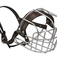 "Dogs My Love Metal Wire Basket Dog Muzzle Rottweiler Large Male. Circumference 16.5"", Length 4.5"""