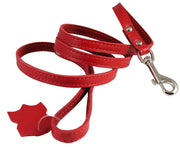"Genuine Leather Classic Dog Leash 1/2"" Wide 4 Ft, Boston Terrier, Poodle, Puppies"