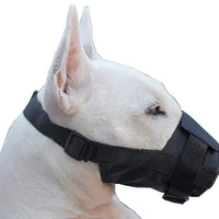 Nylon Dog Muzzle Adjustable Black
