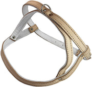 Leather Dog Harness Padded Beige